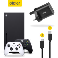 Have everything you need for your Xbox Series X and Xbox Series S with this 3 piece Olixar charging bundle. Whether you want to charge your controller quickly, play whilst it's on charge or leave it on charge overnight, this bundle has what you need.