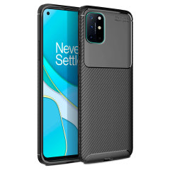 Flexible rugged casing with a premium matte finish non-slip carbon fibre and brushed metal design, the Olixar case in black keeps your Oneplus 8T protected.