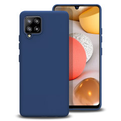 Olixar Soft Silicone Samsung Galaxy A42 5G Case - Midnight Blue