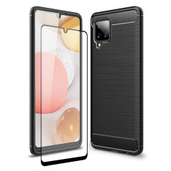 This sleek, black, carbon fibre Sentinel case comes with a clear, glass screen protector, helping provide your Samsung Galaxy A42 5G with 360 degree protection from lifes little accidents. Look great whilst knowing your phone is safe with Olixar.