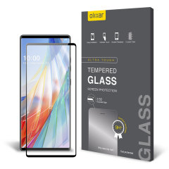 Olixar LG Wing 5G Full Cover Tempered Glass Screen Protector - Black