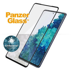 PanzerGlass™ antibacterial screen protector for Samsung Galaxy S20 FE is case friendly & designed with black bezels for a seemless blend. It covers your entire screen so you get optimum protection, while preserving 100% touch sensibility.