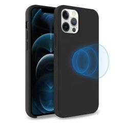 Olixar iPhone 12 Pro Max MagSafe Compatible Silicone Case - Black