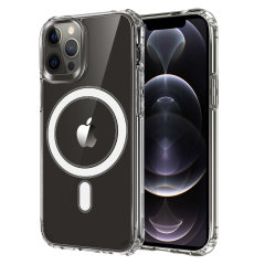 Custom moulded for your iPhone 12 Pro, this stunning, clear Case from Olixar contains a magnetic ring to allow for MagSafe accessories and chargers to snap on the back, as well as excellent drop and scratch protection.