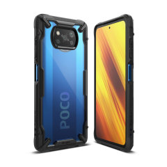 Keep your Xiaomi Poco X3 protected from bumps and drops with the Ringke Fusion X tough case in black. Featuring a 2-part, Polycarbonate design, with NFC this case lives up to military drop test standards so you can rest assured that your device is safe.