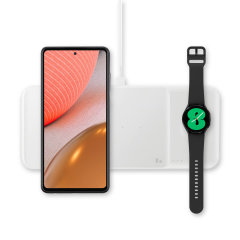 This Official Samsung Galaxy Watch 3 Wireless Trio Charger looks great, has fast-charging capability and uniquely, has room to hold 3 devices at once! Whether it's your phone, smartwatch or earbuds, this will charge them quickly, effectively and safely.