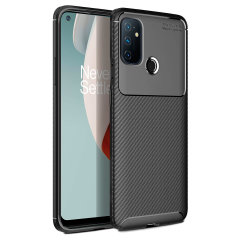 Flexible rugged casing with a premium matte finish non-slip carbon fibre and brushed metal design, the Olixar case in black keeps your Oneplus Nord N100 protected.