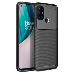 Flexible rugged casing with a premium matte finish non-slip carbon fibre and brushed metal design, the Olixar case in black keeps your Oneplus Nord N10 5G protected.