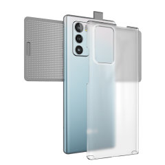 Custom moulded for the LG Wing 5G. This ultra clear protective case provides a slim fitting stylish design and reinforced corner shock protection against damage, keeping your device looking great at all times.