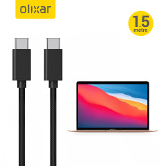 Olixar MacBook Air 13 Inch 2020 100W Braided USB-C to C Charging Cable