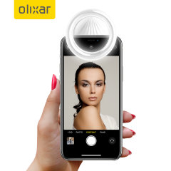 Olixar Smartphone Clip-On Selfie Ring LED Light - White