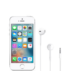 Take your music up a notch with these Apple EarPods. Engineered to deliver deep, rich bass tones for your iPhone SE 2016. Boasting a traditional wired design and ultra-comfortable in ear fit, the Apple EarPods are ready when you are.