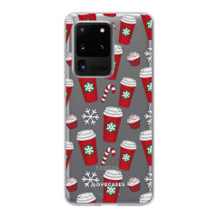 Add some Christmas cheer to your Galaxy S20 Ultra with this festive red cups design from LoveCases. Cute and protective, this ultra-thin clear case provides the perfect fit, grip and durable protection from drops, bumps and scratches.