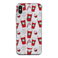 Add some Christmas cheer to your iPhone XS with this red cups design from LoveCases. Cute and protective, this ultra-thin clear case provides the perfect fit, grip and durable protection from drops, bumps and scratches.