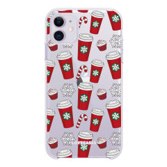 Add some Christmas cheer to your iPhone 11 with this red cups design from LoveCases. Cute and protective, this ultra-thin clear case provides the perfect fit, grip and durable protection from drops, bumps and scratches.