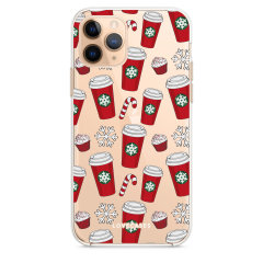 Add some Christmas cheer to your iPhone 11 Pro Max with this red cups design from LoveCases. Cute and protective, this ultra-thin clear case provides the perfect fit, grip and durable protection from drops, bumps and scratches.