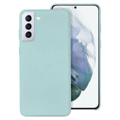Olixar Samsung Galaxy S21 Plus Soft Silicone Case - Pastel Green