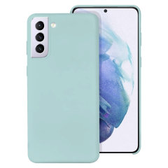 Custom moulded for the Samsung Galaxy S21, this pastel green soft silicone case from Olixar provides excellent protection against lifes little accidents, as well as a slimline fit for added convenience.