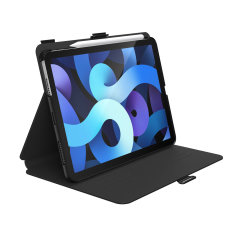 Speck's Balance Folio is a feature rich case that perfectly balances durability and style for your iPad Air 4. Fortified with impact and drop protection, it remains slim with integrated holders for an Apple Pencil and supports multiple viewing angles.