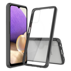Custom moulded for the Samsung Galaxy A32 5G. This black Olixar ExoShield tough case provides a slim fitting stylish design and reinforced corner shock protection against damage, keeping your device looking great at all times.