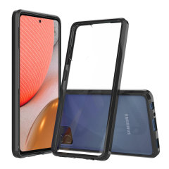 Custom moulded for the Samsung Galaxy A72. This black Olixar ExoShield tough case provides a slim fitting stylish design and reinforced corner shock protection against damage, keeping your device looking great at all times.