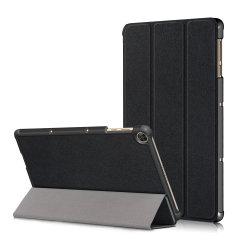 Olixar Leather-style Amazon Fire HD 8 Folio Stand Case - Black