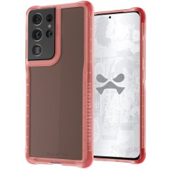 Custom moulded for the Samsung Galaxy S21 Ultra, the Ghostek Covert 5 Ultra-Thin Pink case provides a stylish, slim fit that provides ultimate protection against scrapes, bumps and drops, without impeding on your S21 Ultra's stunning design.