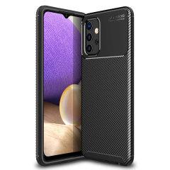 Olixar Carbon Fibre Samsung Galaxy A32 5G Case - Black