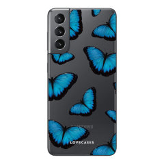 Take your Samsung Galaxy S21 Plus to the next level with this stunning Blue Butterfly case from LoveCases. Cute but protective, the ultra-thin case provides slim fitting and durable protection against lifes little accidents.