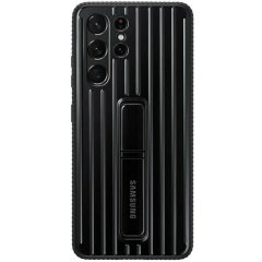 This Official Samsung Protective cover in black is the perfect accessory for your Samsung Galaxy S21 Ultra smartphone. Looks stylish, offers ultimate protection and built with a kickstand to make viewing your favourite shows a lot more convenient.