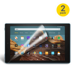 Keep the display on your Amazon Fire HD 2019 in pristine condition with this Olixar scratch-resistant film screen protector 2-in-1 pack.