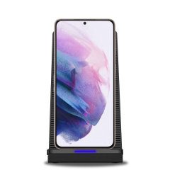Want to be able to use your Galaxy S21 whilst it charges and not worry about overheating? Well, with the Olixar 10W Wireless Charging Stand With Cooling Fan you can! The fan will keep your phone cool, which helps keep your battery healthier for longer.