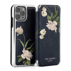 Ted Baker Elderflower iPhone 11 Pro Folio Case - Black / Silver