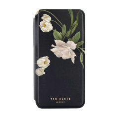 Ted Baker Elderflower iPhone 11 Pro Max Folio Case - Black / Silver