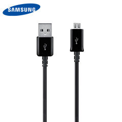 This sleek, official Samsung Micro USB Data cable in black allows you to transfer data quickly, safely and easily. It is 1m in length, making it perfect to keep your device close to you whilst it's on charge.