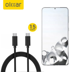 Olixar Samsung Galaxy S21 Plus 100W Braided USB-C To C Cable - 1.5m