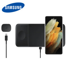 Official Samsung Galaxy S21 Ultra Wireless Trio Charger - Black