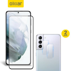 Olixar Samsung S21 Plus Screen Protector & 2 Pack Camera Protectors