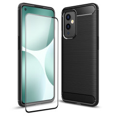 Flexible rugged casing with a premium matte finish non-slip carbon fibre and brushed metal design, the Olixar Sentinel case in black keeps your OnePlus 9 protected from 360 degrees with the added bonus of a high-quality, tempered glass screen protector.