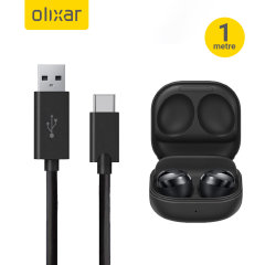 Olixar Galaxy Buds Pro USB-A Charging Cable with USB-C  - Black 1m