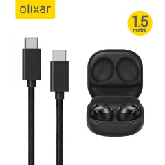 Olixar Galaxy Buds Pro 100W Braided USB-C To C Charging Cable - Black