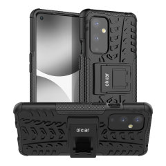 Protect your OnePlus 9 from bumps and scrapes with this stunning, black ArmourDillo case from Olixar. Comprised of an inner TPU case and an outer impact-resistant exoskeleton, with a built-in viewing stand to watch your favourite movies!