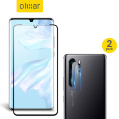 Featuring a high quality, 100% clear Tempered Glass screen protector & a 2 pack of ultra-thin camera protectors from Olixar you can feel secure in the knowledge that your Huawei P30 Pro's screen & camera lenses are protected from scrapes & drops
