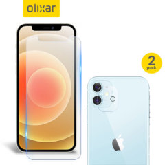 Olixar iPhone 12 mini Screen Protector & 2 Pack Camera Protectors