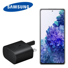 Official Samsung Galaxy S20 FE 25W PD USB-C UK Wall Charger - Black
