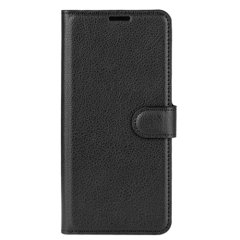 Protect your Samsung Galaxy A40 with this durable & sleek black leather-style wallet case, featuring a magnetic clasp to keep your phone safe & secure from scrapes & bump. What's more, this case features 2 card slots for your most important ID's & cards!