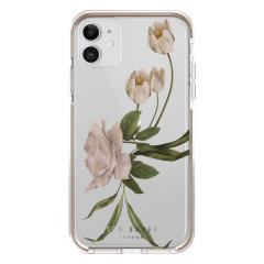 Form-fitting and bulk-free, the Elderflower case for iPhone 11 from Ted Baker in clear, sports an ethereal otherworldly floral aesthetic whilst also offering superlative anti-shock protection for your device from drops, scrapes and other damage.