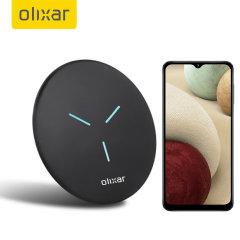 Olixar Samsung Galaxy A12 Slim 10W Fast Wireless Charging Pad - Black