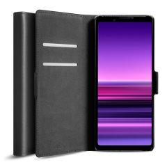 Olixar Genuine Leather Sony Xperia 1 III  Wallet Case - Black