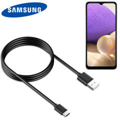 Official Samsung Galaxy A32 USB-C Charge & Sync Cable - 1.2m- Black